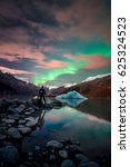 northern light's alaska  | Shutterstock . vector #625324523