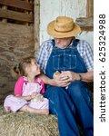 A Grandpa And His Granddaughte...
