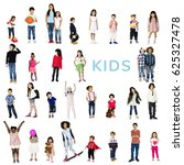 diverse of young children... | Shutterstock . vector #625327478