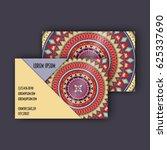 vector vintage visiting card... | Shutterstock .eps vector #625337690