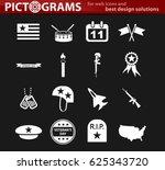 veterans day vector icons for... | Shutterstock .eps vector #625343720