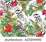 summer background with tropical ... | Shutterstock .eps vector #625344440