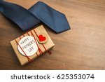 gift box with red heart and... | Shutterstock . vector #625353074