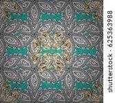 classic golden pattern. floral... | Shutterstock . vector #625363988