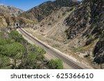 Line Of Railroad Tracks Leads...