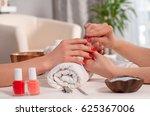 relaxing day at beauty salon.... | Shutterstock . vector #625367006