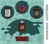 vote flat concept icons