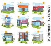 set of houses  | Shutterstock .eps vector #625378394