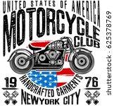 motorcycle label t shirt design ... | Shutterstock .eps vector #625378769
