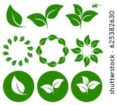 leave leaf icon set vector | Shutterstock .eps vector #625382630