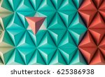 abstract blue to red paper poly ... | Shutterstock . vector #625386938