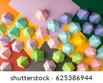 abstract pyramid composition on ... | Shutterstock . vector #625386944