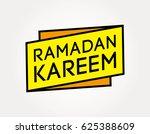 ramadan kareem sign   Shutterstock .eps vector #625388609