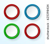 white push buttons with colored ... | Shutterstock .eps vector #625398434