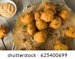 Stock photo homemade deep fried hush puppy corn fritters 625400699