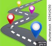 road. navigation. map. | Shutterstock .eps vector #625414250