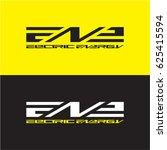 electric energy logo  e  n   | Shutterstock .eps vector #625415594
