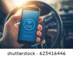 pairing smartphone with car... | Shutterstock . vector #625416446