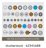 vector accessories for clothes | Shutterstock .eps vector #62541688