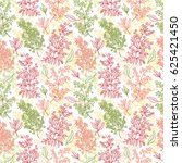 medicinal plants seamless...   Shutterstock . vector #625421450