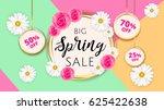 big spring sale banner template ... | Shutterstock .eps vector #625422638