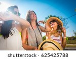 group of young and cute girls... | Shutterstock . vector #625425788
