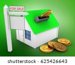 3d illustration of simple house ... | Shutterstock . vector #625426643