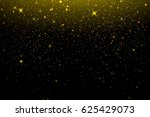 gold glitter texture on a black ... | Shutterstock . vector #625429073