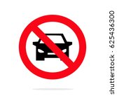no car sign. parking prohibited ...   Shutterstock .eps vector #625436300
