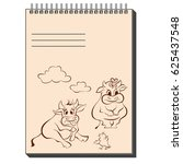 sketch notepad with different... | Shutterstock .eps vector #625437548