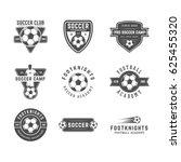 set of vintage soccer or... | Shutterstock . vector #625455320