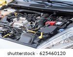 view of clean engine compartment | Shutterstock . vector #625460120