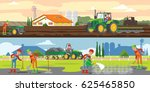 farming and agriculture... | Shutterstock .eps vector #625465850