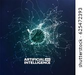 artificial intelligence vector... | Shutterstock .eps vector #625472393