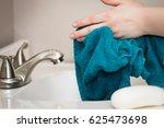 drying hands   Shutterstock . vector #625473698