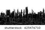 futuristic megalopolis city... | Shutterstock .eps vector #625476710