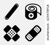 bandaid icons set. set of 4... | Shutterstock .eps vector #625478918