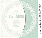 retro invitation or wedding... | Shutterstock .eps vector #625479530