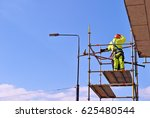 construction workers on a... | Shutterstock . vector #625480544