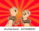 freedom arms breaking the...   Shutterstock .eps vector #625488830