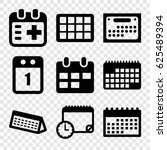 appointment icons set. set of 9 ... | Shutterstock .eps vector #625489394
