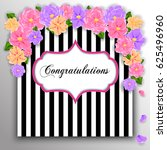 wedding invitation with flowers ...   Shutterstock .eps vector #625496960