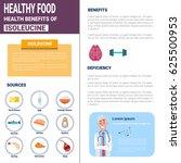 healthy food infographics...   Shutterstock .eps vector #625500953