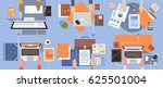 people using computers... | Shutterstock .eps vector #625501004