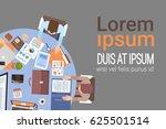 people using computers... | Shutterstock .eps vector #625501514