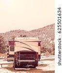 rv campsite in snow at estes... | Shutterstock . vector #625501634