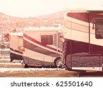 rv campsite in snow at estes... | Shutterstock . vector #625501640