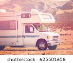 motor home near the great sand... | Shutterstock . vector #625501658