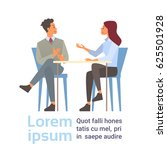 business man and woman talking... | Shutterstock .eps vector #625501928