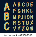colored isometric 3d font.... | Shutterstock .eps vector #625502960